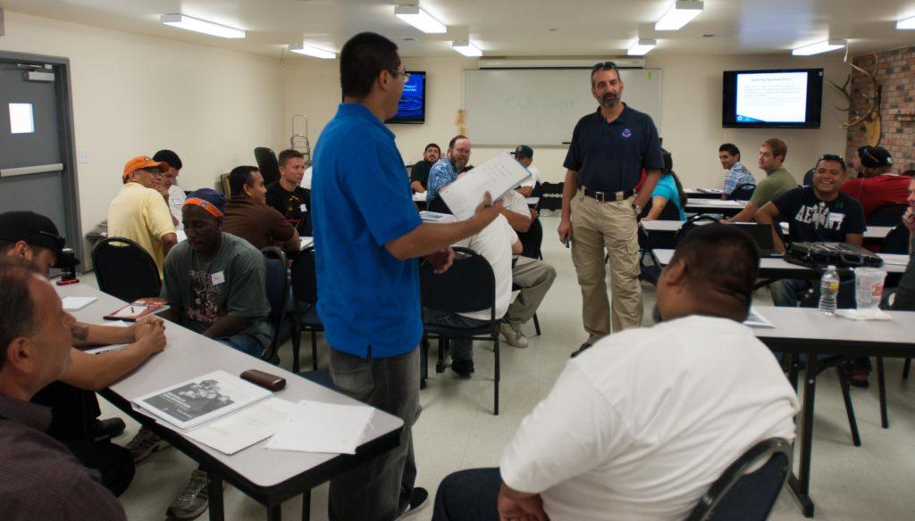 "Joel Persinger teaching an ""Arrest Powers"" course"